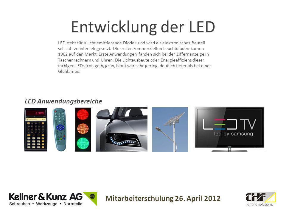Entwicklung der LED LED Anwendungsbereiche
