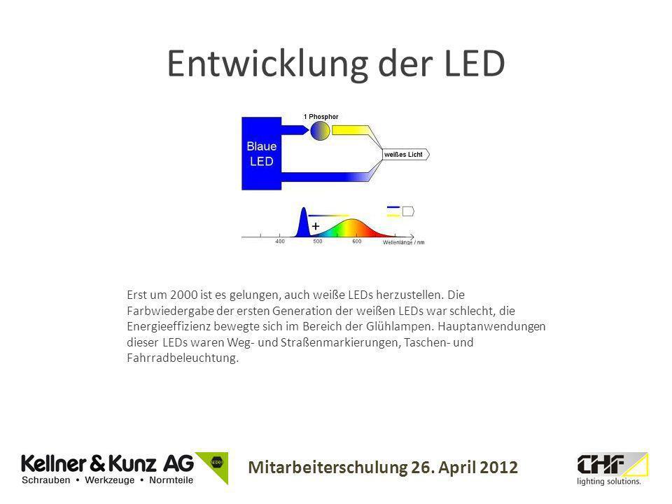 Entwicklung der LED