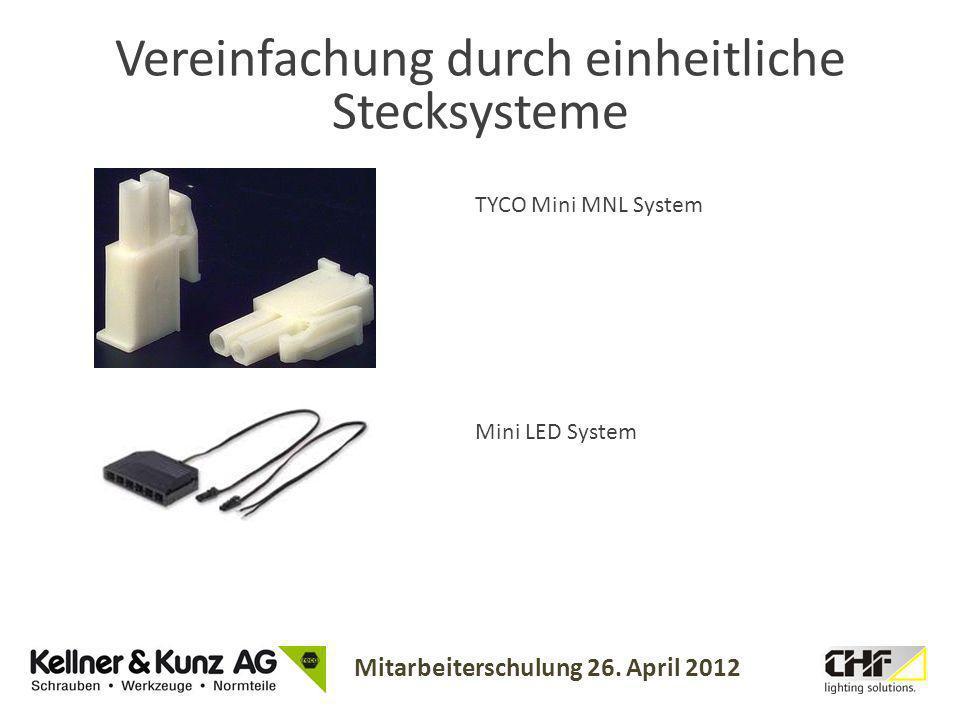 Vereinfachung durch einheitliche Stecksysteme