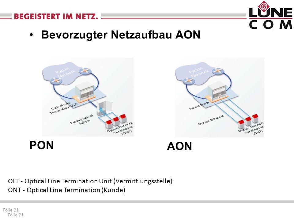 Bevorzugter Netzaufbau AON