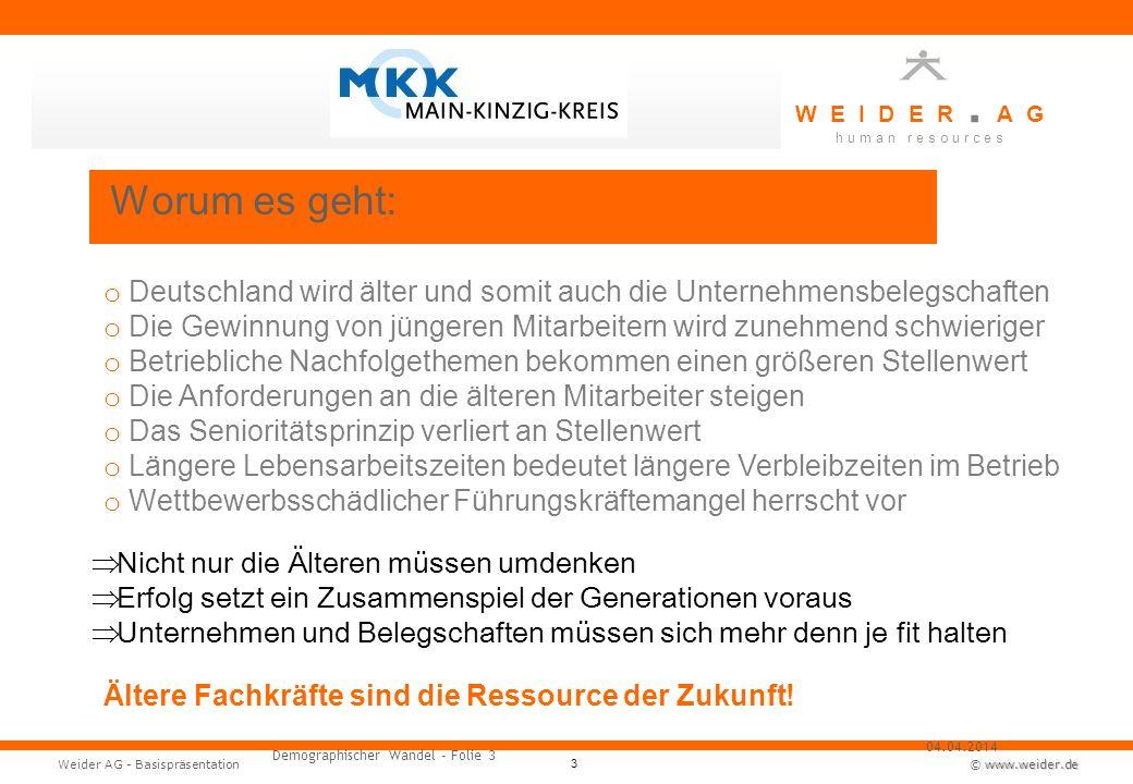 Worum es geht: Deutschland wird älter und somit auch die Unternehmensbelegschaften.