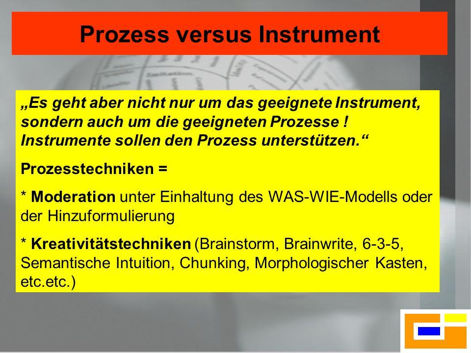 Prozess versus Instrument