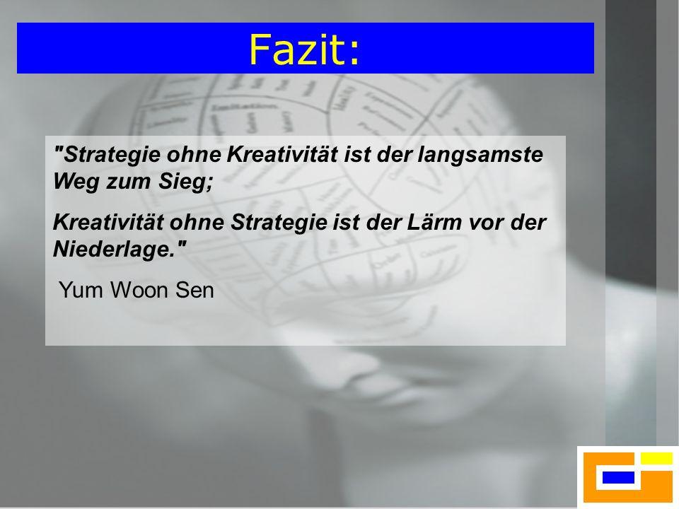 Fazit: Strategie ohne Kreativität ist der langsamste Weg zum Sieg;