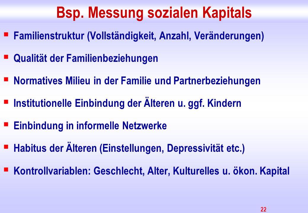 Bsp. Messung sozialen Kapitals