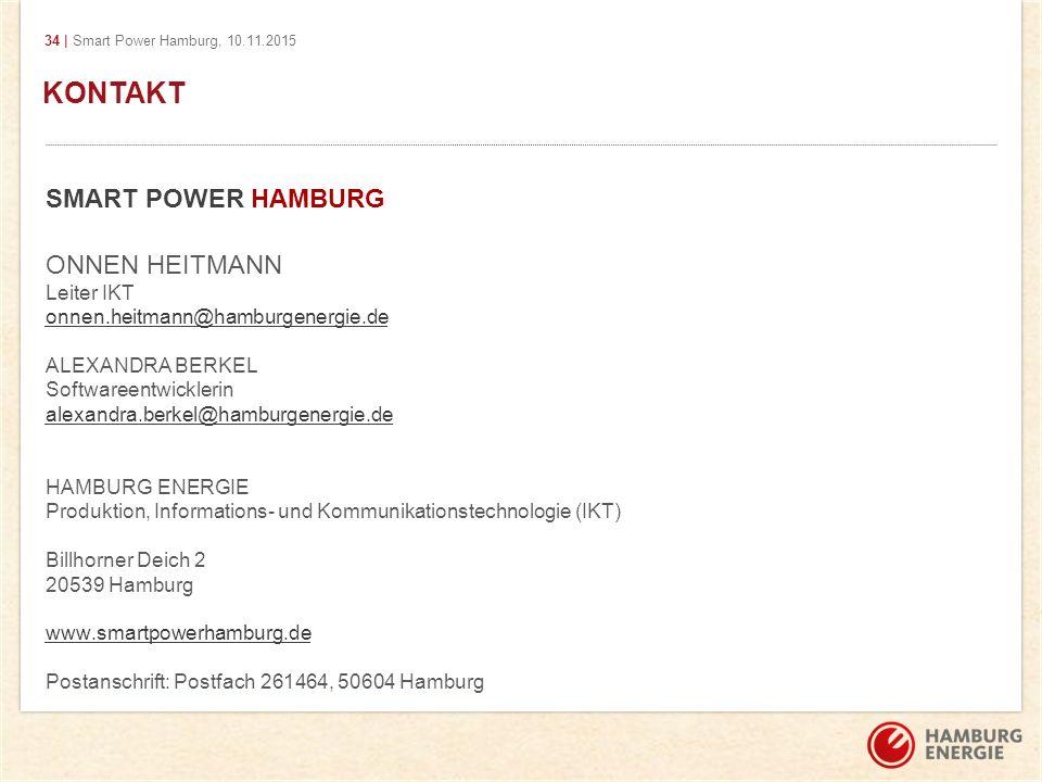 Kontakt KONTAKT SMART POWER HAMBURG ONNEN HEITMANN Leiter IKT