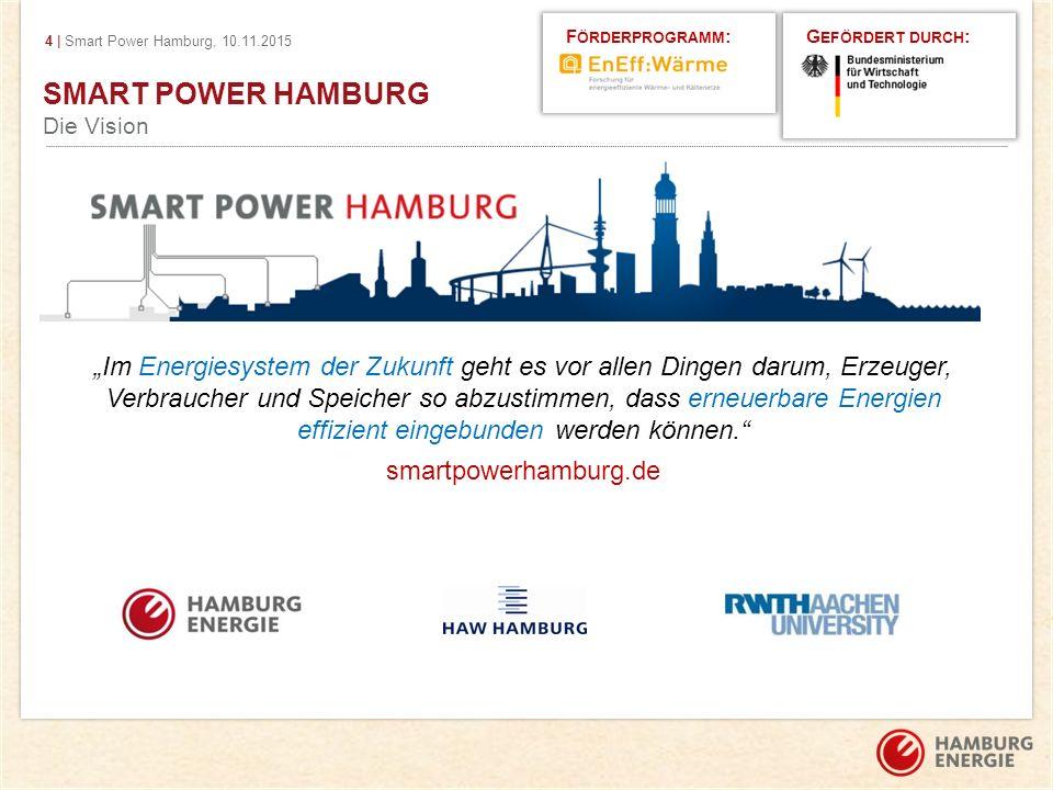 Förderprogramm: Gefördert durch: SMART POWER HAMBURG. Die Vision.