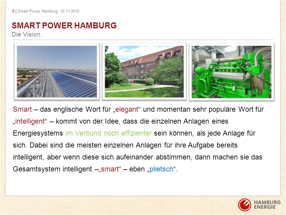 SMART POWER HAMBURG Die Vision.