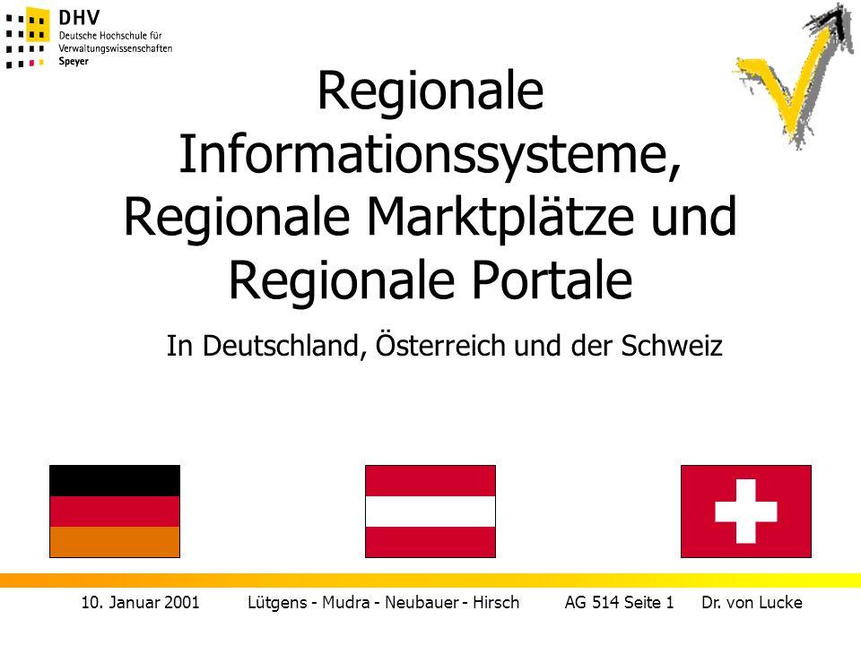 Regionale Informationssysteme, Regionale Marktplätze und Regionale Portale