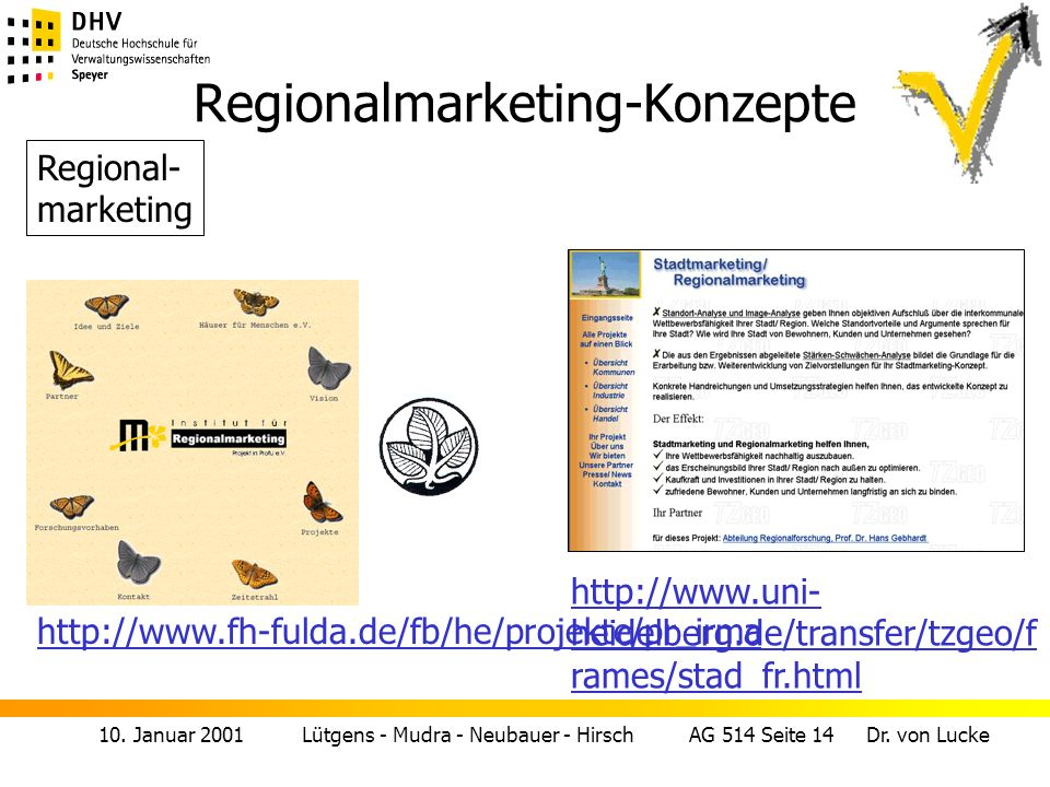 Regionalmarketing-Konzepte