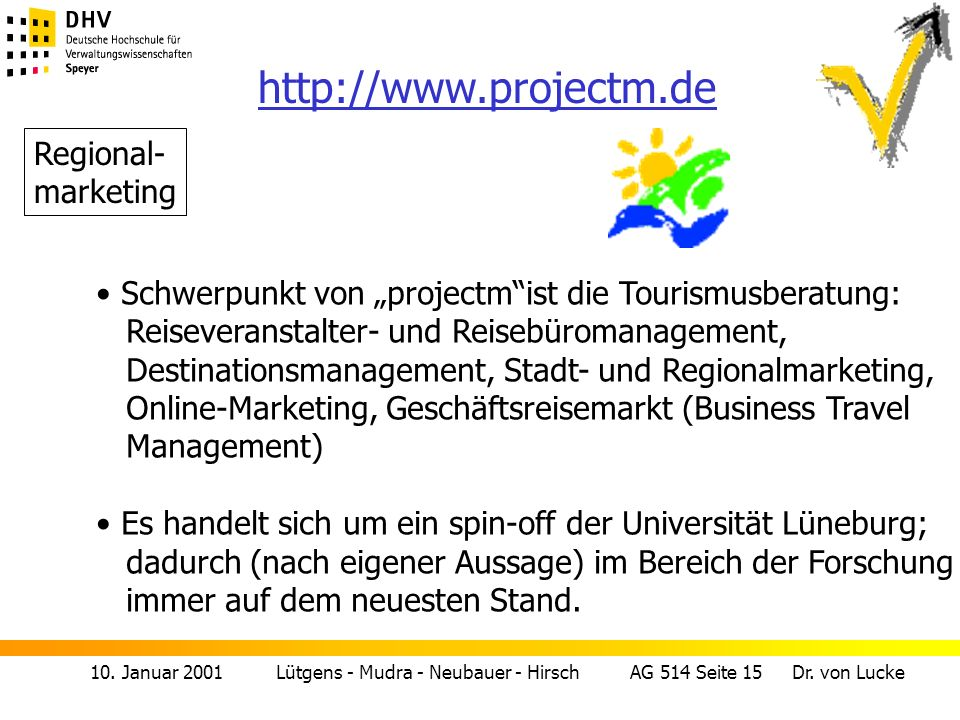 http://www.projectm.de Regional- marketing