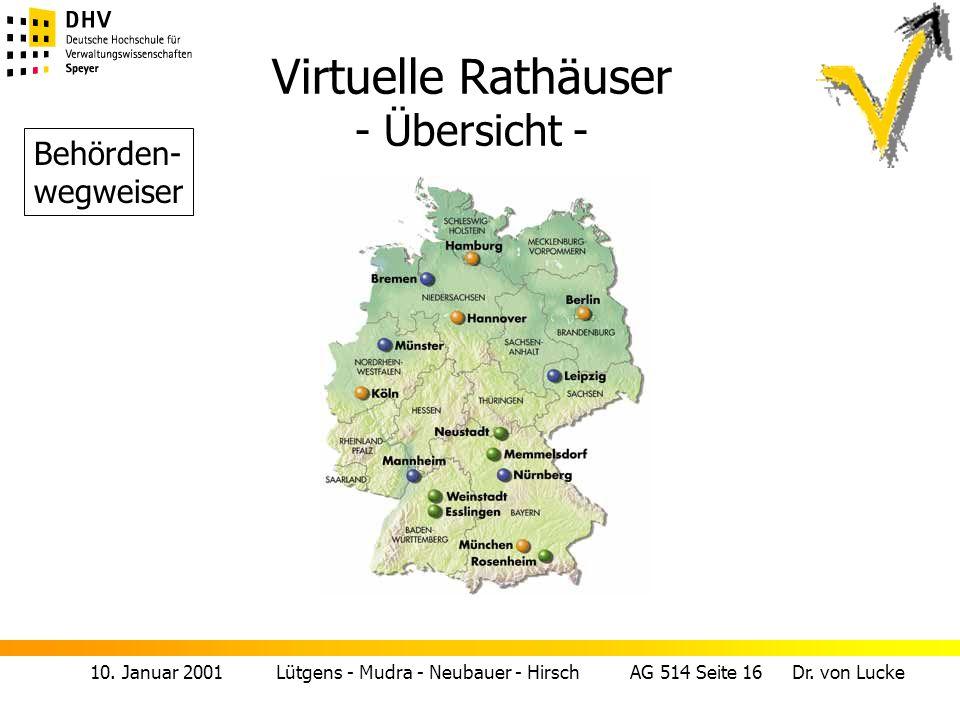 Virtuelle Rathäuser - Übersicht -