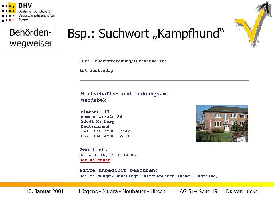 """Bsp.: Suchwort """"Kampfhund"""