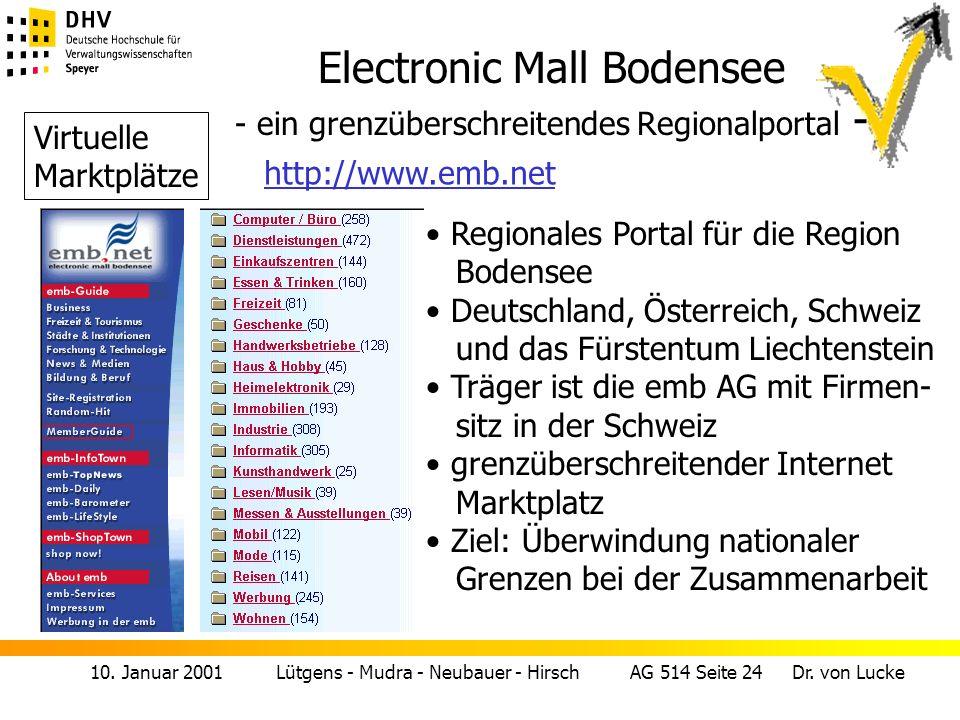 Electronic Mall Bodensee - ein grenzüberschreitendes Regionalportal -