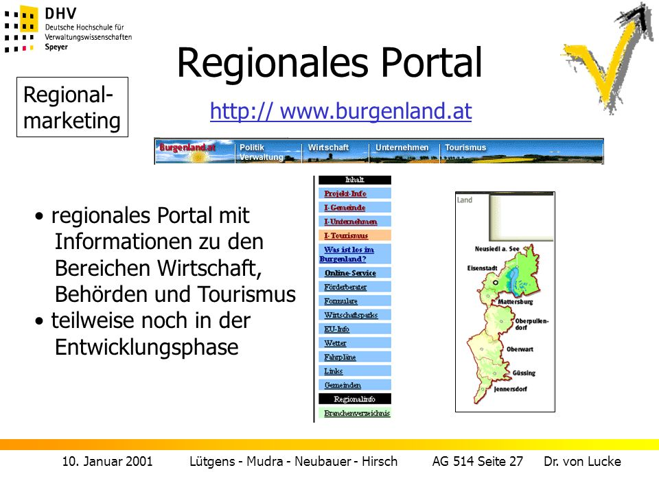 Regionales Portal Regional- marketing http:// www.burgenland.at