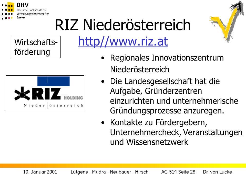 RIZ Niederösterreich http//www.riz.at