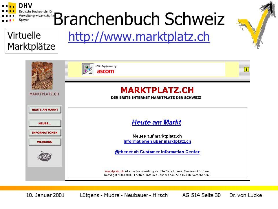 Branchenbuch Schweiz http://www.marktplatz.ch