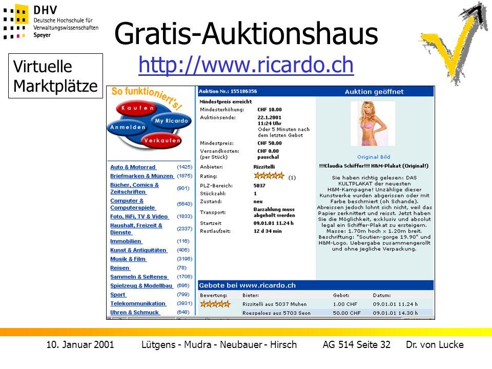 Gratis-Auktionshaus http://www.ricardo.ch