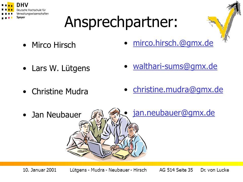 Ansprechpartner: mirco.hirsch.@gmx.de Mirco Hirsch