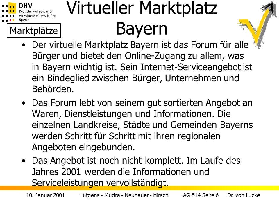 Virtueller Marktplatz Bayern