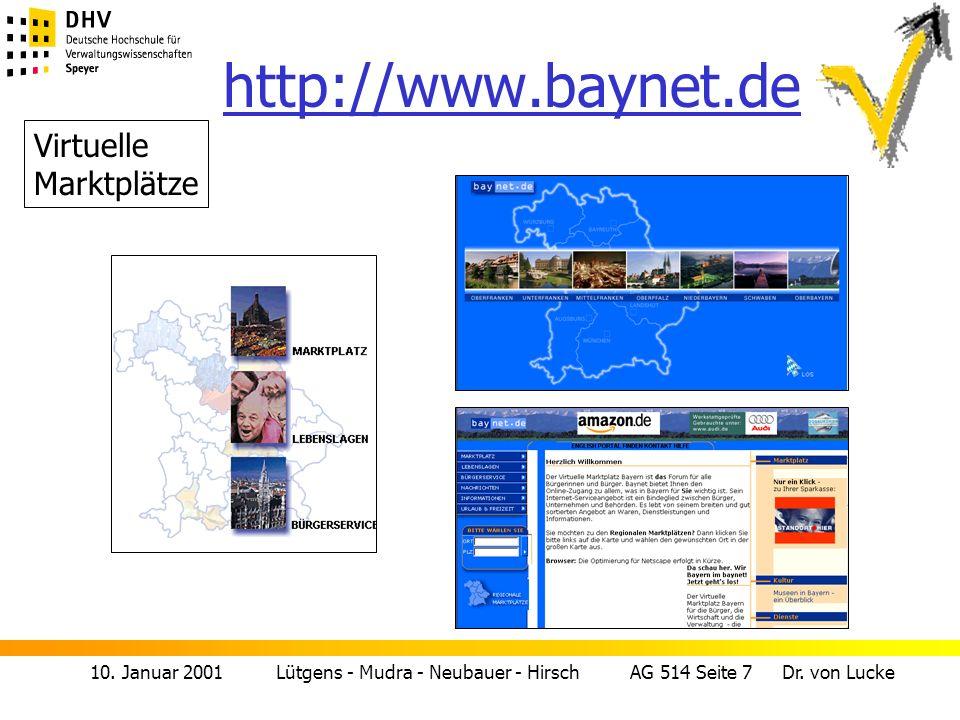 http://www.baynet.de Virtuelle Marktplätze