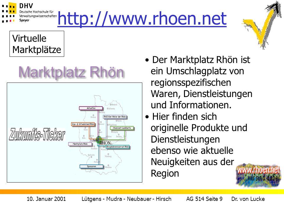 http://www.rhoen.net Virtuelle Marktplätze Der Marktplatz Rhön ist
