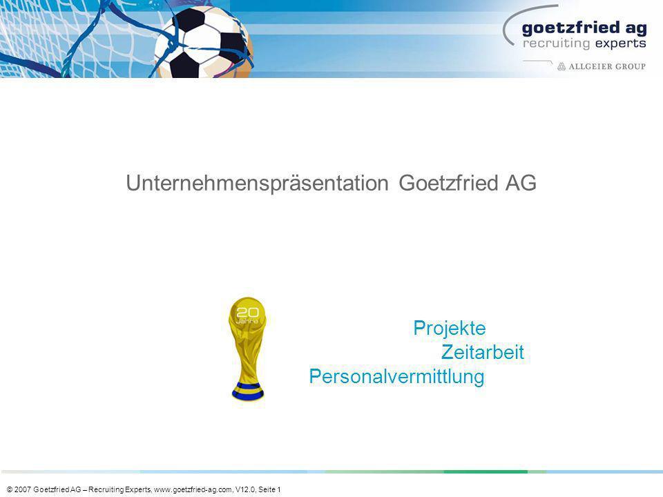 Unternehmenspräsentation Goetzfried AG