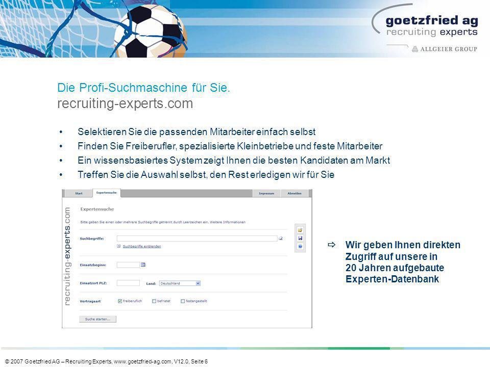 Die Profi-Suchmaschine für Sie. recruiting-experts.com