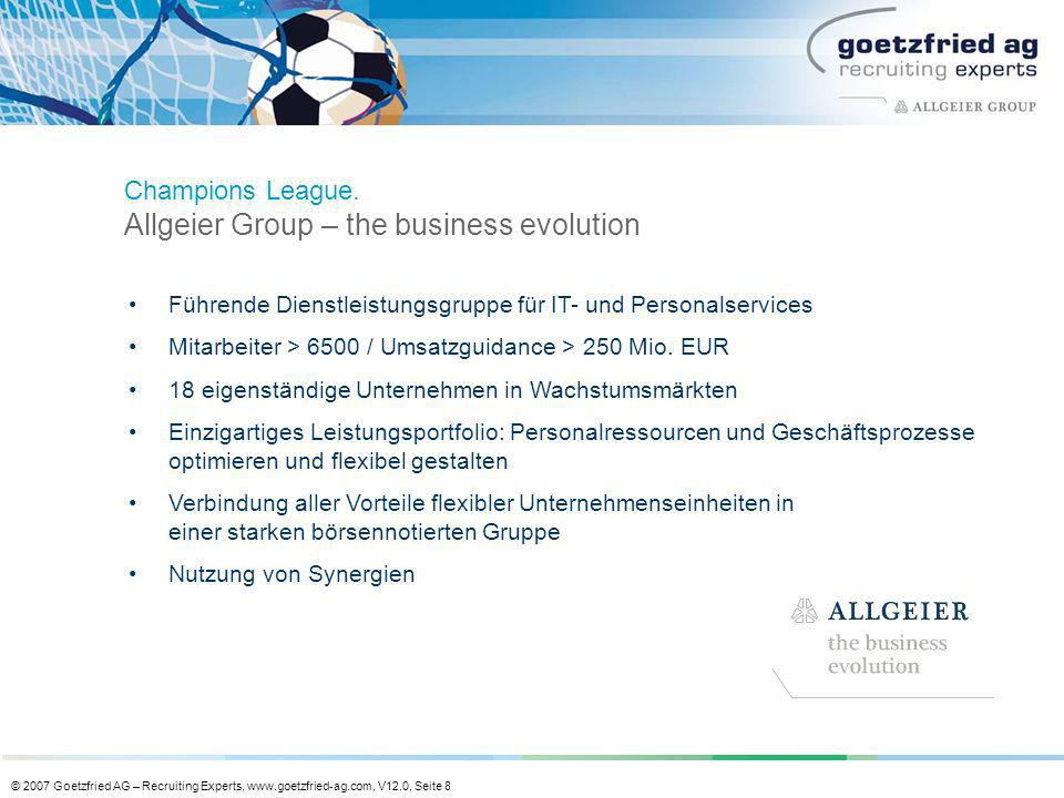 Champions League. Allgeier Group – the business evolution