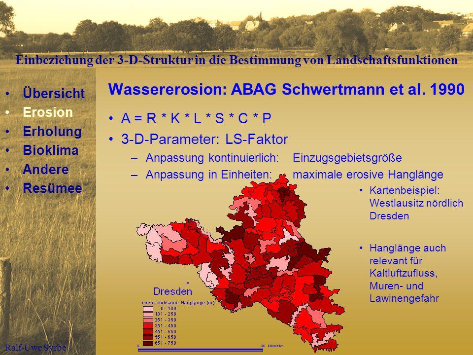 Wassererosion: ABAG Schwertmann et al. 1990