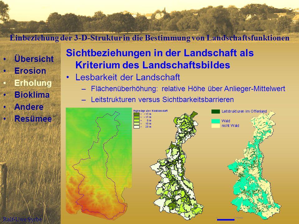 Sichtbeziehungen in der Landschaft als Kriterium des Landschaftsbildes