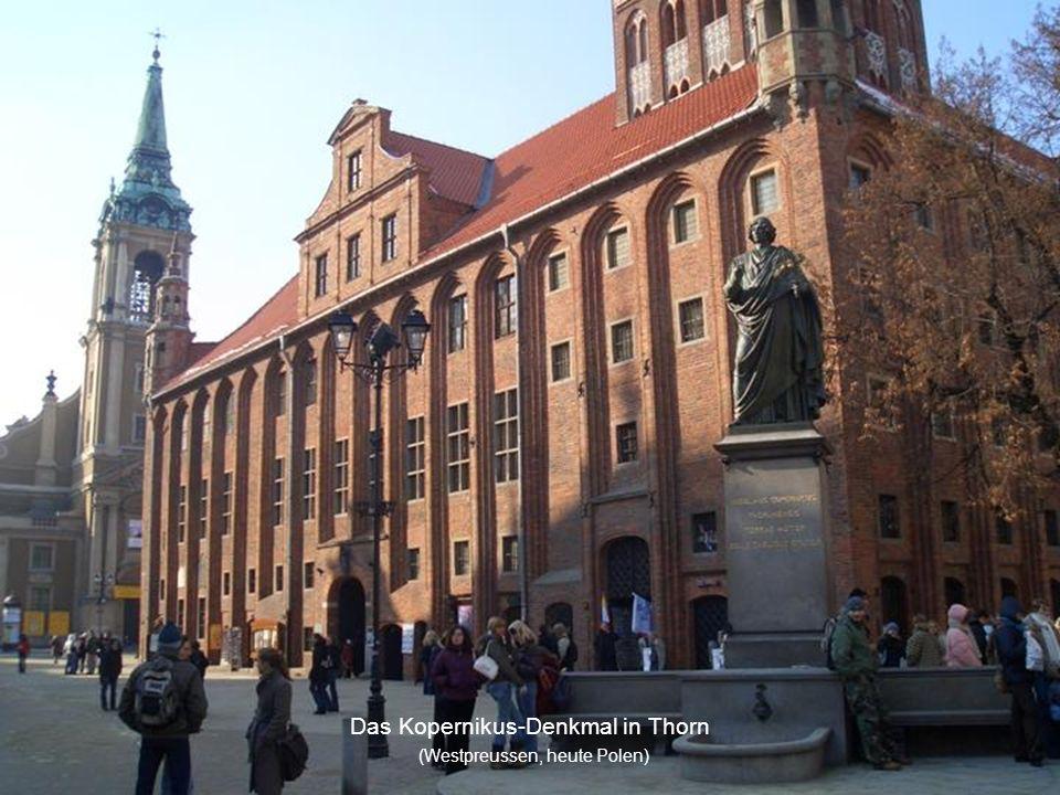 Das Kopernikus-Denkmal in Thorn (Westpreussen, heute Polen)