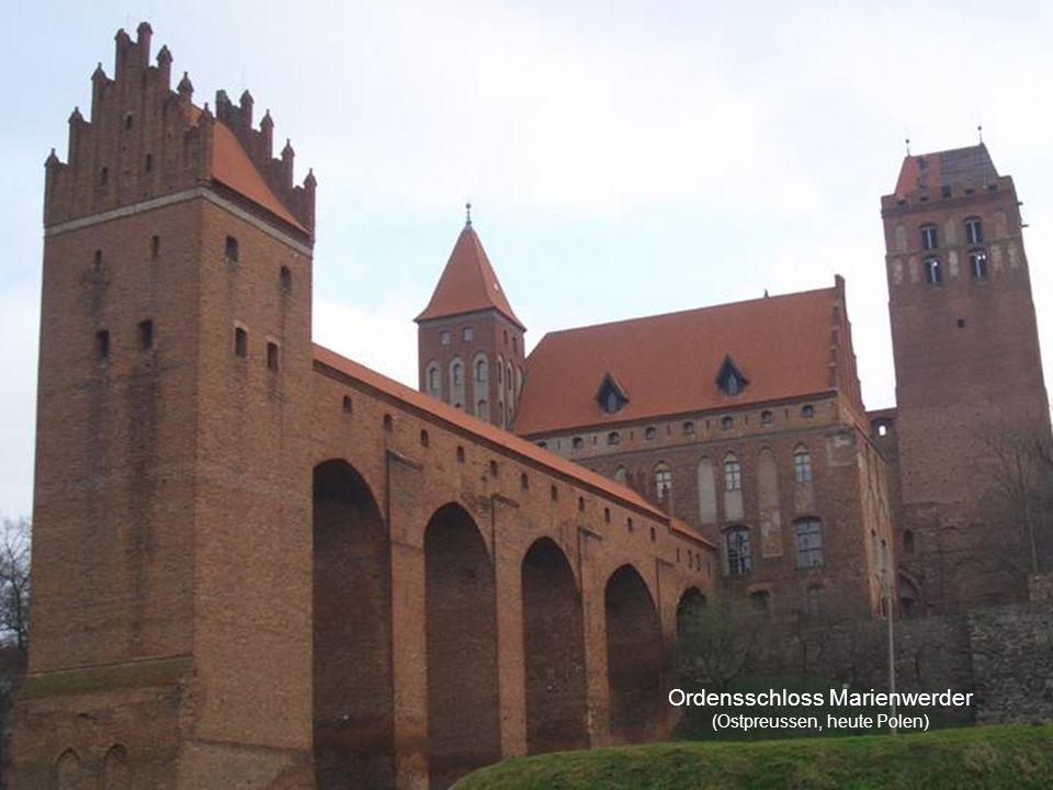 Ordensschloss Marienwerder (Ostpreussen, heute Polen)