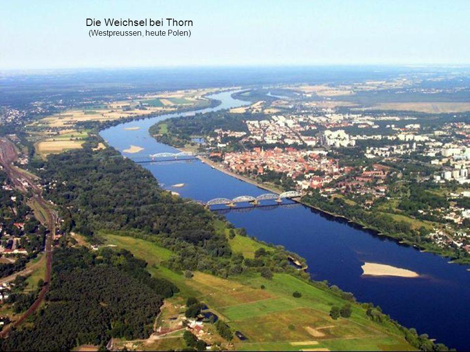 Die Weichsel bei Thorn (Westpreussen, heute Polen)