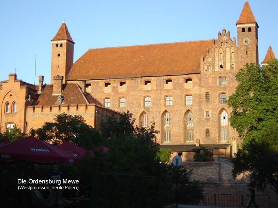 Die Ordensburg Mewe (Westpreussen, heute Polen)