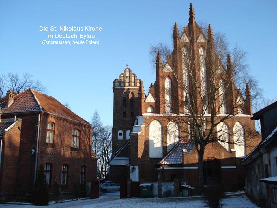 Die St. Nikolaus Kirche in Deutsch-Eylau (Ostpreussen, heute Polen)