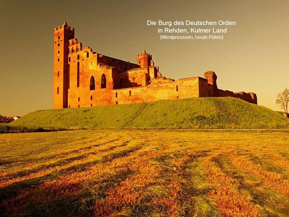 Die Burg des Deutschen Orden in Rehden, Kulmer Land (Westpreussen, heute Polen)