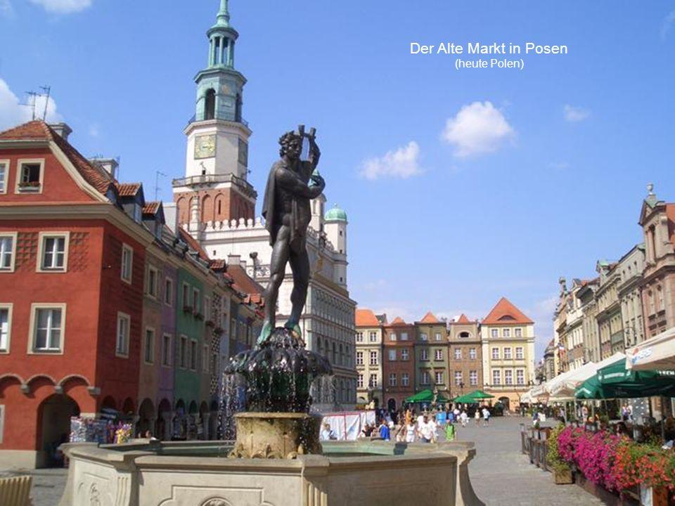 Der Alte Markt in Posen (heute Polen)