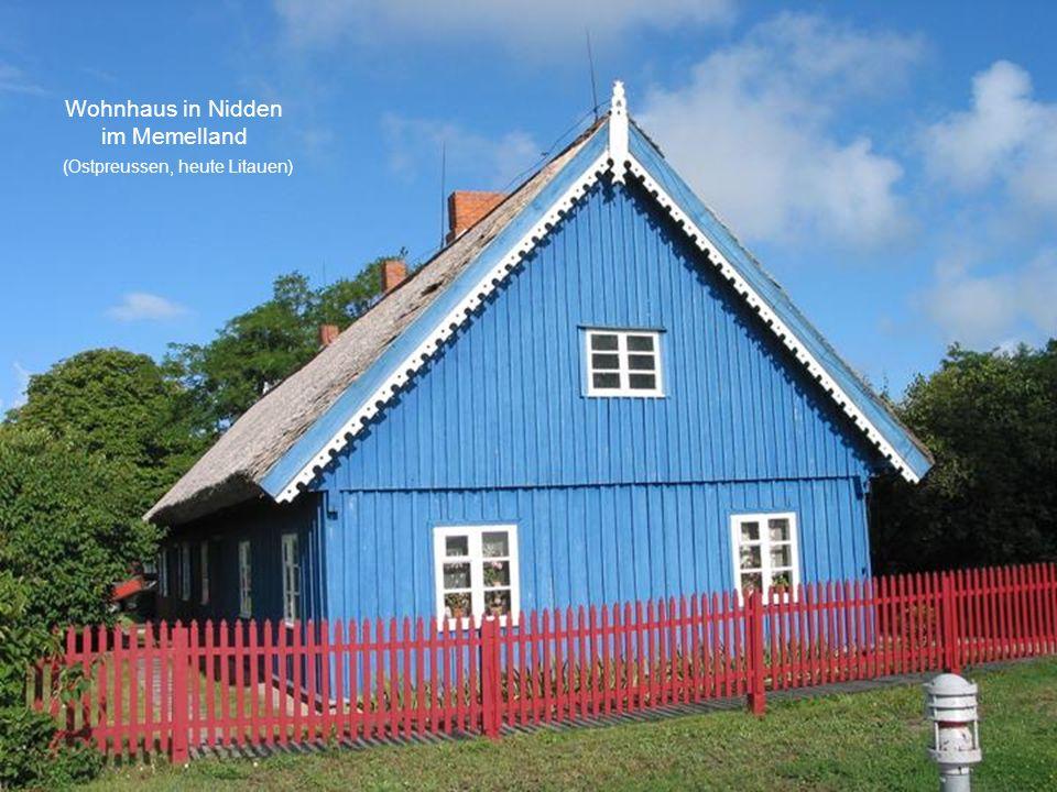 Wohnhaus in Nidden im Memelland (Ostpreussen, heute Litauen)