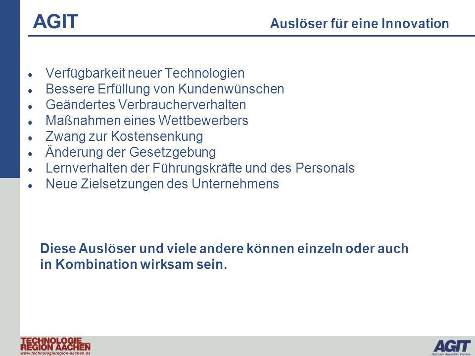 AGIT Auslöser für eine Innovation
