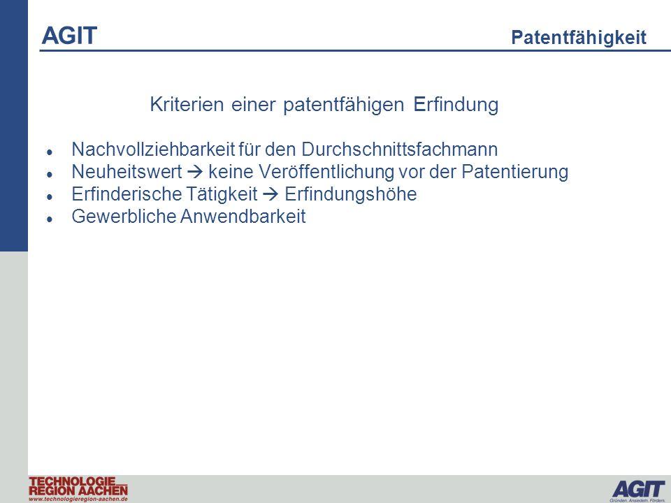 Kriterien einer patentfähigen Erfindung