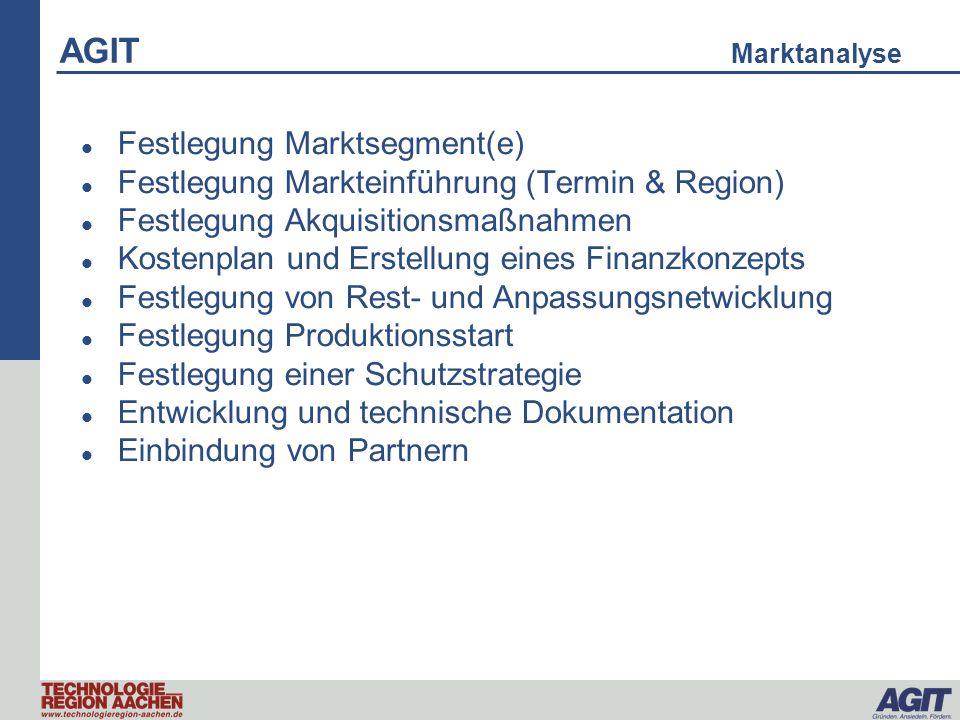 AGIT Marktanalyse Festlegung Marktsegment(e)