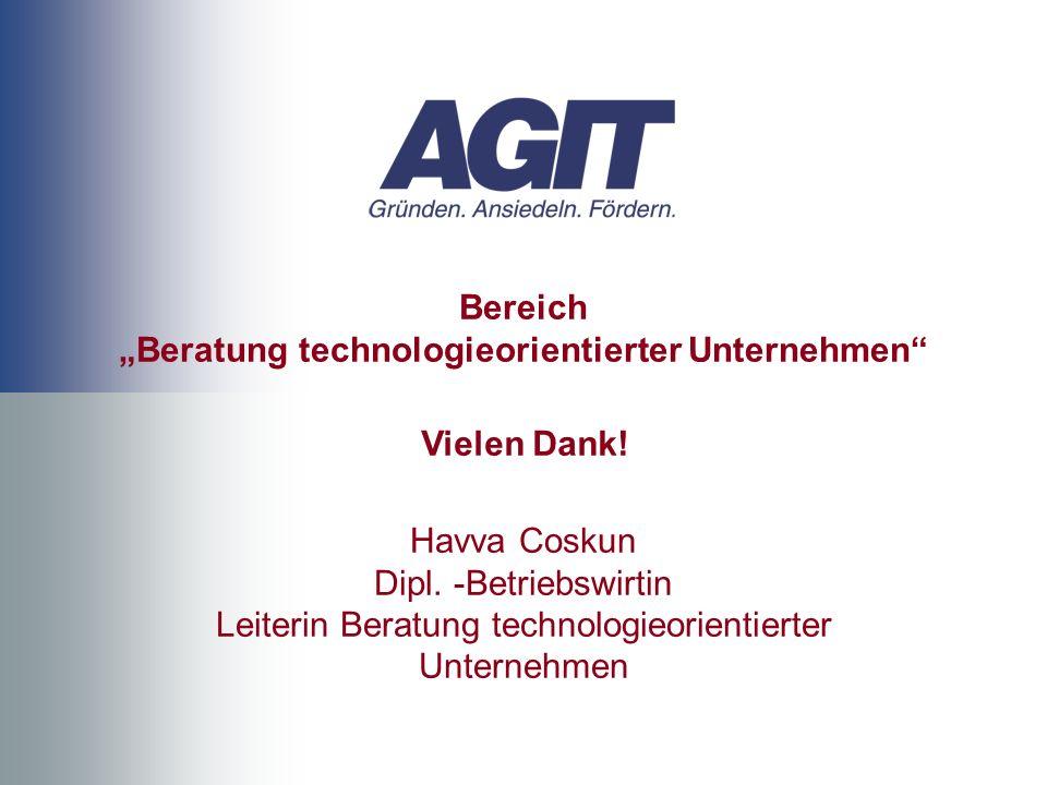 """Bereich """"Beratung technologieorientierter Unternehmen"""
