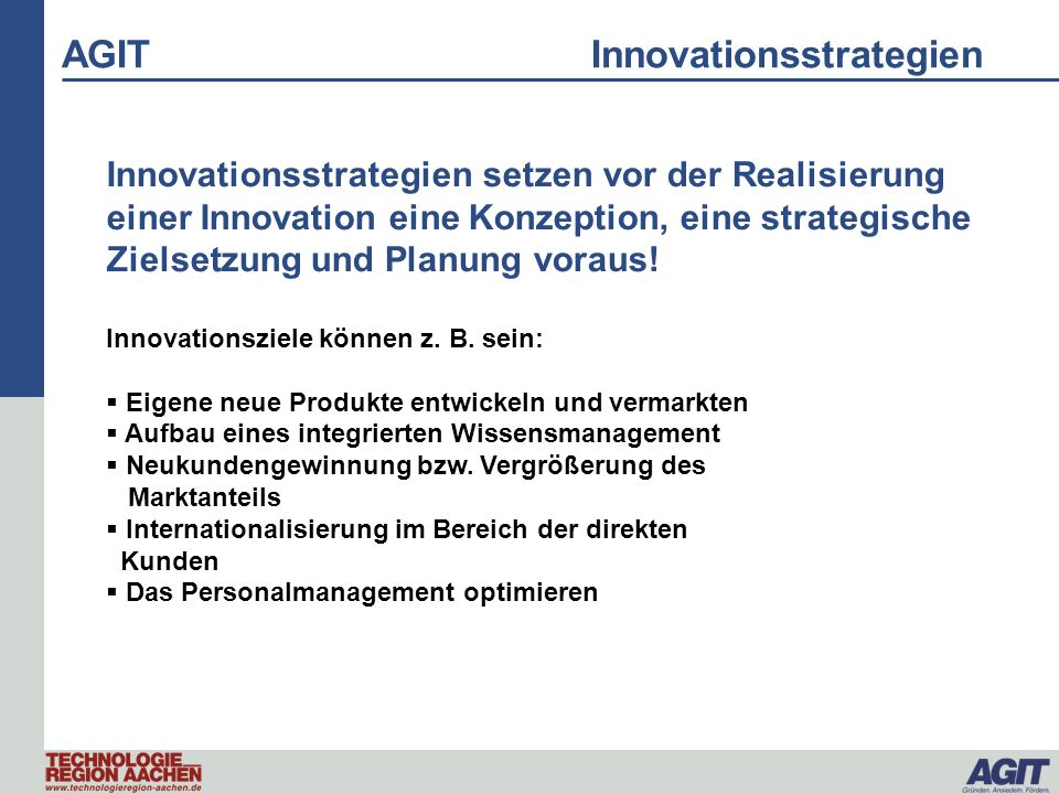 AGIT Innovationsstrategien