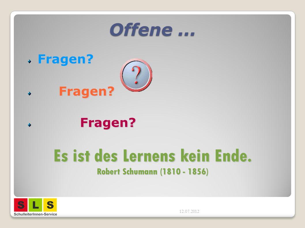 Es ist des Lernens kein Ende. Robert Schumann (1810 - 1856)
