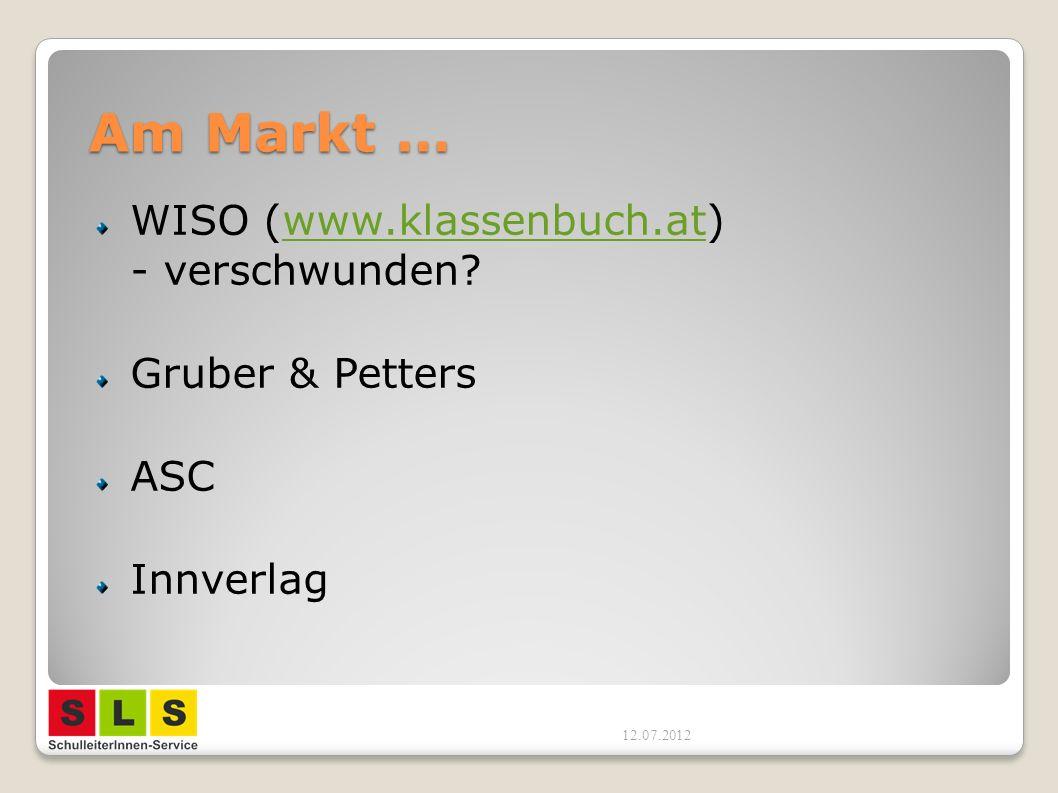 Am Markt … WISO (www.klassenbuch.at) - verschwunden Gruber & Petters