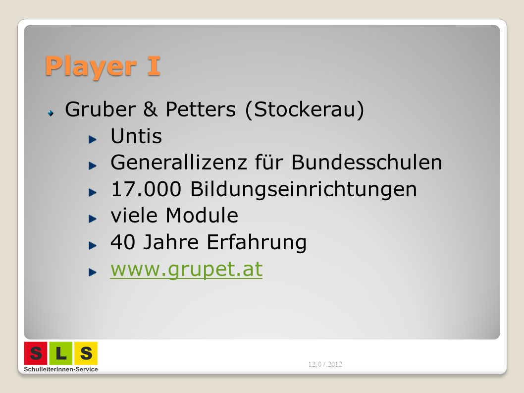 Player I Gruber & Petters (Stockerau) Untis