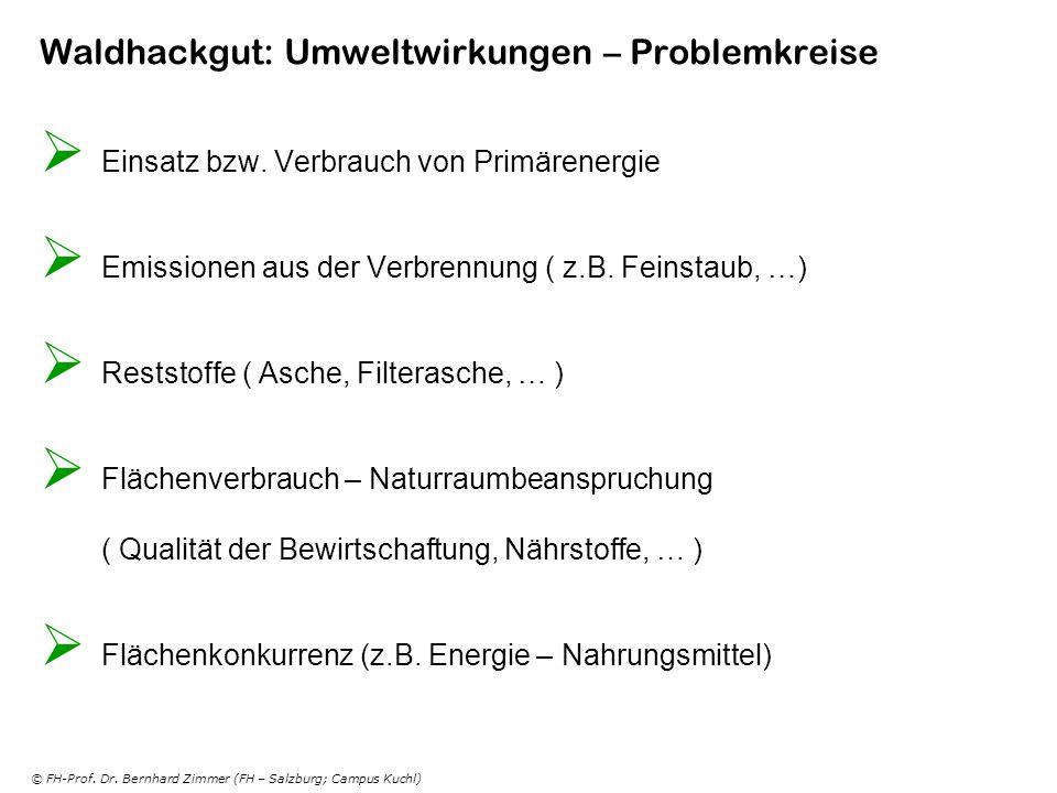 Waldhackgut: Umweltwirkungen – Problemkreise