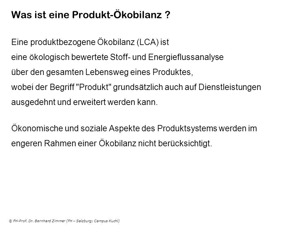 Was ist eine Produkt-Ökobilanz