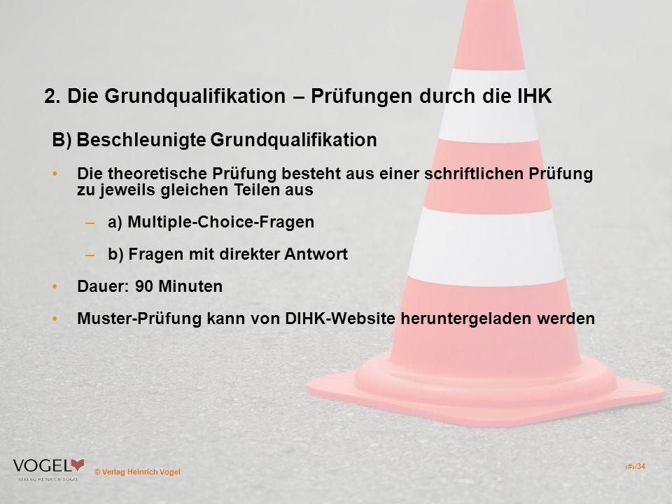 2. Die Grundqualifikation – Prüfungen durch die IHK