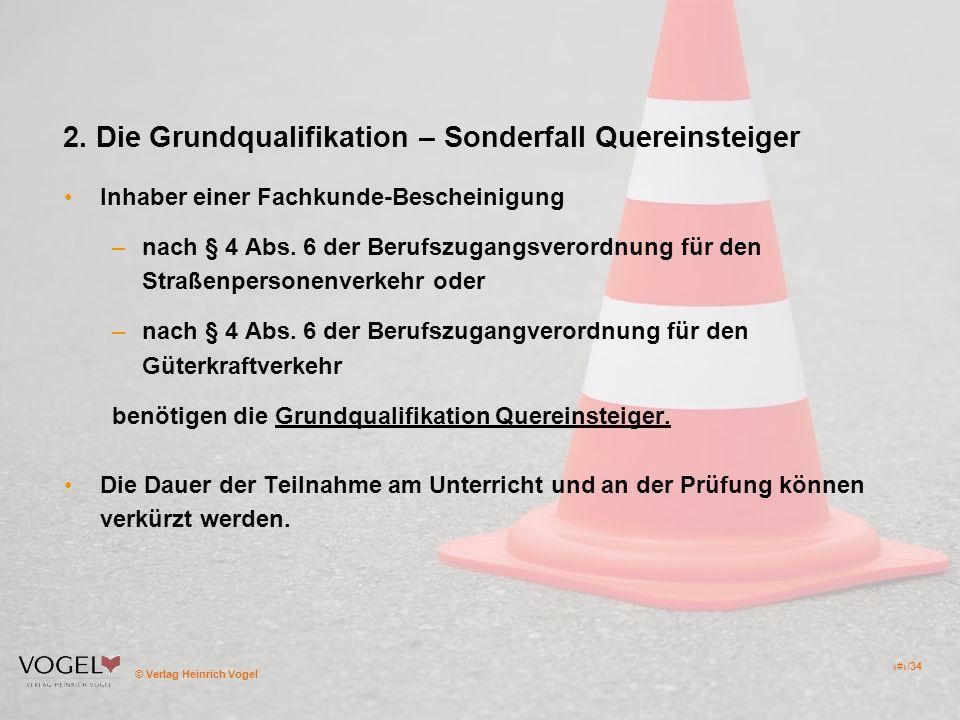 2. Die Grundqualifikation – Sonderfall Quereinsteiger